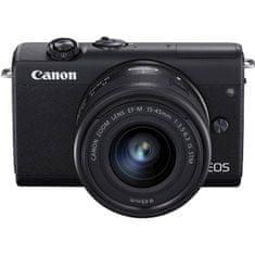 Canon EOS M200 fotoaparat + EF-M 15-45 IS STM objektiv