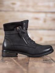 Evona Kotníkové boty odstín černé