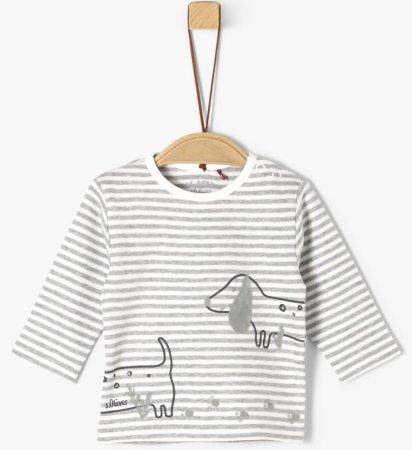 s.Oliver chlapčenské tričko 50-56 sivá