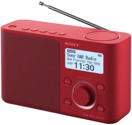 Sony XDR-S61DB, červená