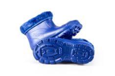 Dětské zateplené boty FLAMEshoes X-6005 modré