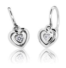 Cutie Jewellery Detské náušnice C2177-10-10-X-2 biele zlato 585/1000