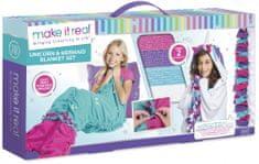 Make It Real Výroba deky - Mořská panna a Jednorožec