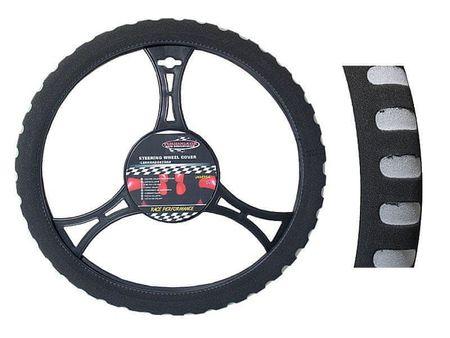 Automax Potah na volant SPORT šedý M