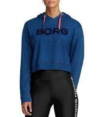 Björn Borg dámska mikina 1941-1082 Cropped Hood Denim