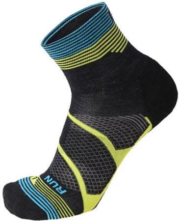 Mico zimske tekaške nogavice M. Weight Winter Running Sock In Merino, Nero Giallo Fluo, L,