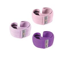Sport2People set tekstilne elastike za trening, ljubičasta