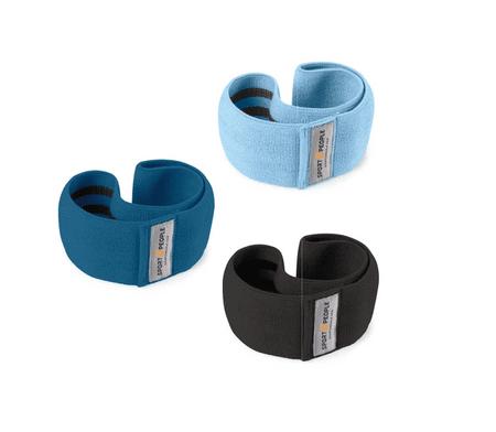Sport2People set tekstilne elastike za trening, plava