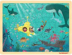 TOP BRIGHT Dřevěné puzzle Na mořském dně 100 dílků