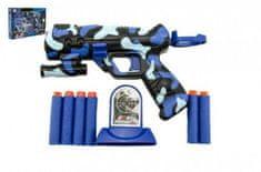Teddies Pistole na pěnové náboje plast 16cm v krabici 29x20x4cm