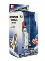 Teddies Raketoplán kov 20cm na baterie se zvukem a světlem v krabici 14x29x10cm