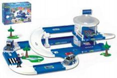 Wader Garáž+dráha Kid Cars 3D Policie plast 3,8m v krabici 59x40x15cm 12m+ Wader