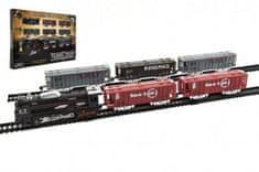 Teddies Vlak + 5 vagónů s kolejemi plast 140x68cm na baterie se světlem