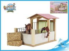 Mikro Trading Stáj pro koně dřevěná 20x14x16cm v krabičce