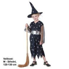 MaDe Šaty na karneval - Čarodějka, 120-130 cm