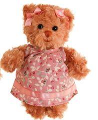 Bukowski Bukowski LITTLE HEDVIG medvídek v růžových šatech (15cm) NOVINKA