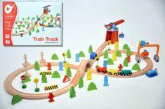Teddies Vlak s dráhou + doplňky 75 ks