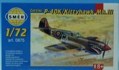 Směr Model CURTISS P - 40K 1:72
