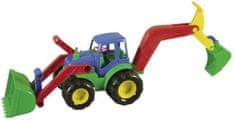 Mochtoys Traktor s radlicí a rypadlem 52cm