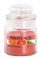 PROVENCE Sviečka v skle s viečkom 70 g, červený pomaranč
