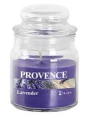 PROVENCE Sviečka v skle s viečkom 70 g, levanduľa