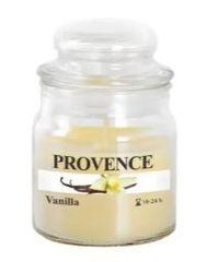 PROVENCE Svíčka ve skle s víčkem 70 g, vanilka