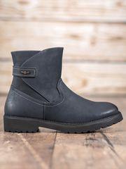 Stylomat Pohodlné kotníkové boty odstín tmavě modré