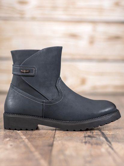 Evona Pohodlné kotníkové boty odstín tmavě modré, velikost 36