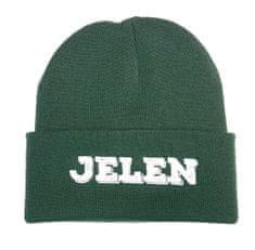Čepice s logem JELEN unisex zelená
