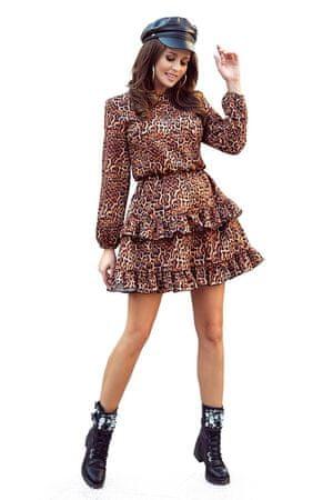 Numoco Dámske šaty 285-1, zvířecí potisk, XL