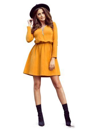 Numoco Dámske šaty 283-1 Nancy, žlto-oranžová, XL