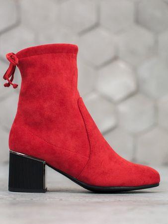 Dámske členkové topánky 59511, odtiene červenej, 37