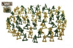 Teddies Sada vojáci 2 barvy plast CZ design na kartě 18x19,5cm