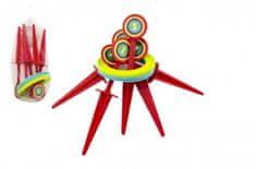 Teddies Hra házecí kroužky a kolíky plast 25cm v síťce