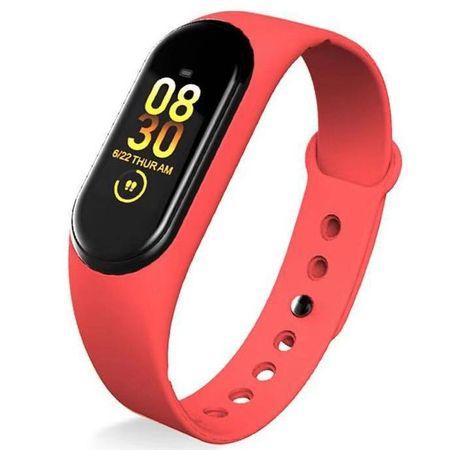 Smartomat Sunset 4, smartwatch (inteligentny zegarek), czerwony