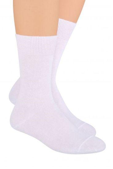 Pánske ponožky 058 white + Nadkolienky Sophia 2pack visone, biela, 41/43