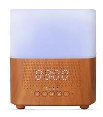 Aromacare Samaya light, ultrazvukový aróma difuzér s hodinami a BT repro, sv. drevo, 300 ml