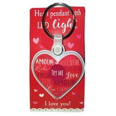 DEPESCHE Přívěsek na klíče Depesche ASST, I love you!, srdce s LED diodou