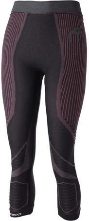 Mico Woman 3/4 Tight Pants M1 Nero Fucsia ženske smučarske spodnje hlače, M (II)