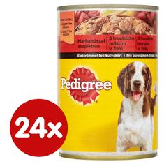 Pedigree Konzerva s hovězím v želé pro dospělé psy 24x400 g