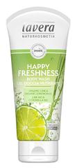 Lavera Żel pod prysznic i do kąpieli Happy Fresh nić Organiczna limonka i organiczna trawa cytrynowa ( Body