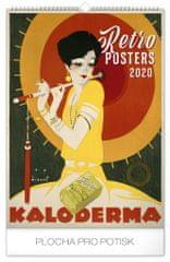 Nástenný kalendár Retro plagáty 2020, 33 x 46 cm