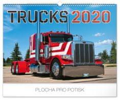 Nástenný kalendár Trucks 2020, 48 x 33 cm