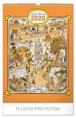 Nástenný kalendár Josef Lada – Měsíce CZ 2020, 33 x 46 cm