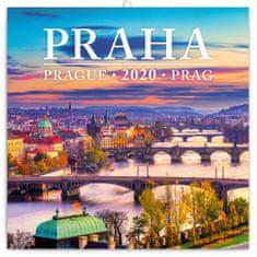 Poznámkový kalendář Praha mini 2020
