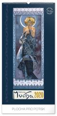 Nástenný kalendár Alfons Mucha 2020, 33 x 64 cm