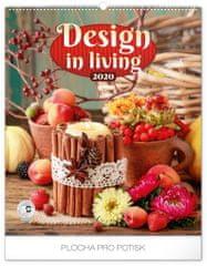 Nástenný kalendár Design in Living 2020, 48 x 56 cm