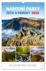 Nástěnný kalendář Národní parky Čech a Moravy CZ 2020, 33 x 46 cm