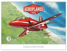 Nástenný kalendár Aeroplanes – Jaroslav Velc 2020, 62 x 42 cm