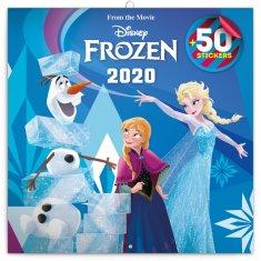 Poznámkový kalendář Frozen – Ledové království 2020 s 50 samolepkami